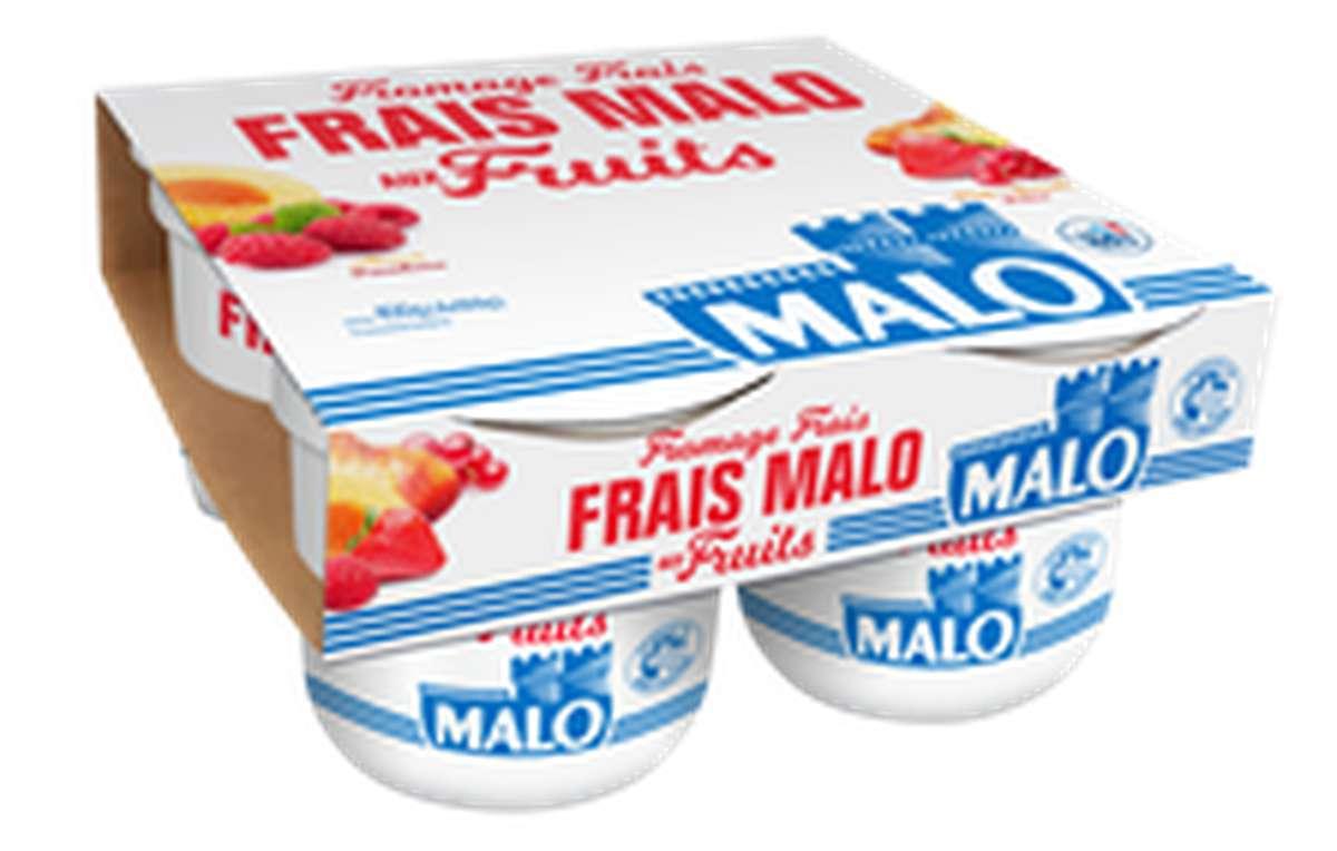 Fromage frais au lait pasteurisé aux fruits 7% MG, Malo (4 x 100 g)