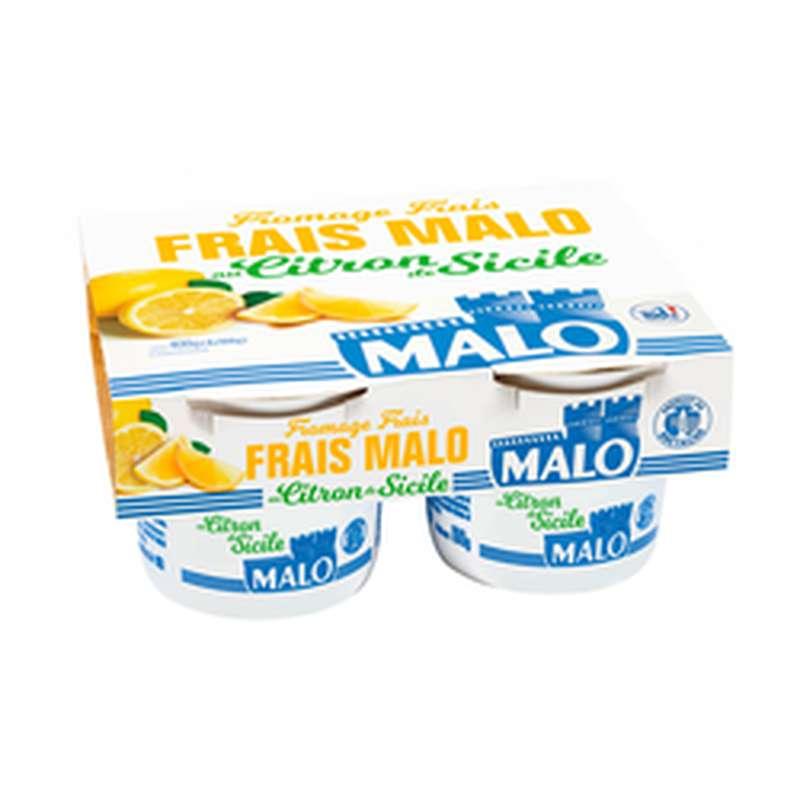 Fromage frais 7% MG au citron, Malo (4 x 100 g)