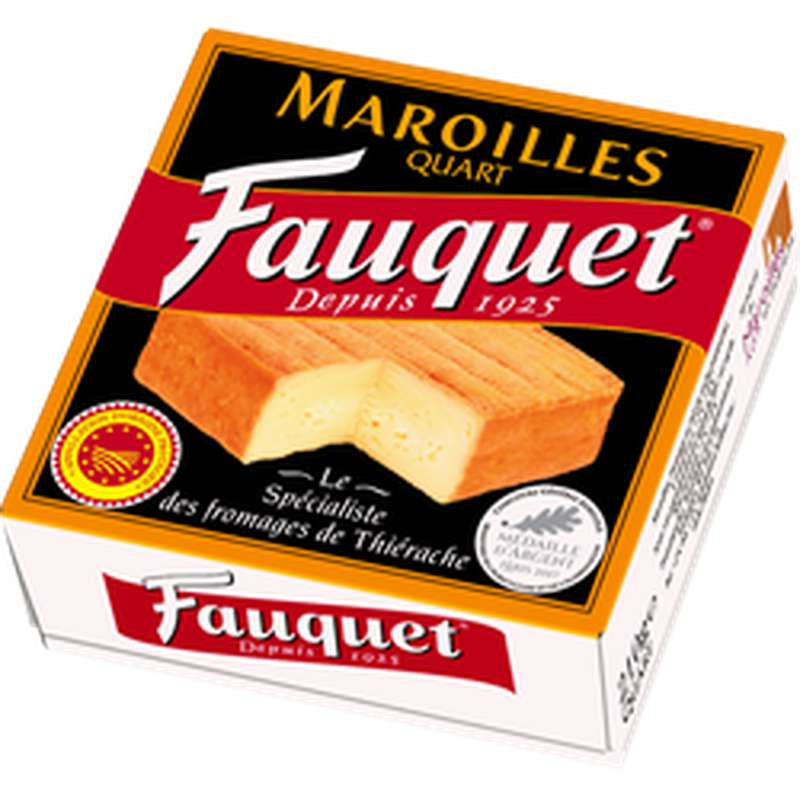 Maroilles quart AOP, Fauquet (210 g)