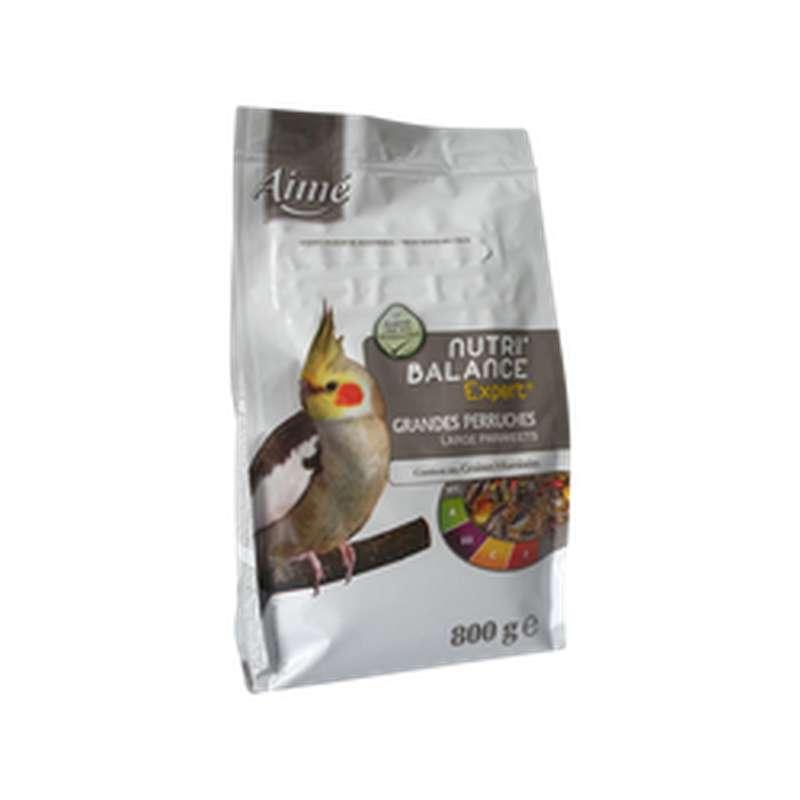 Graines Nutri'balance Expert pour grandes perruches, Aimé (800 g)