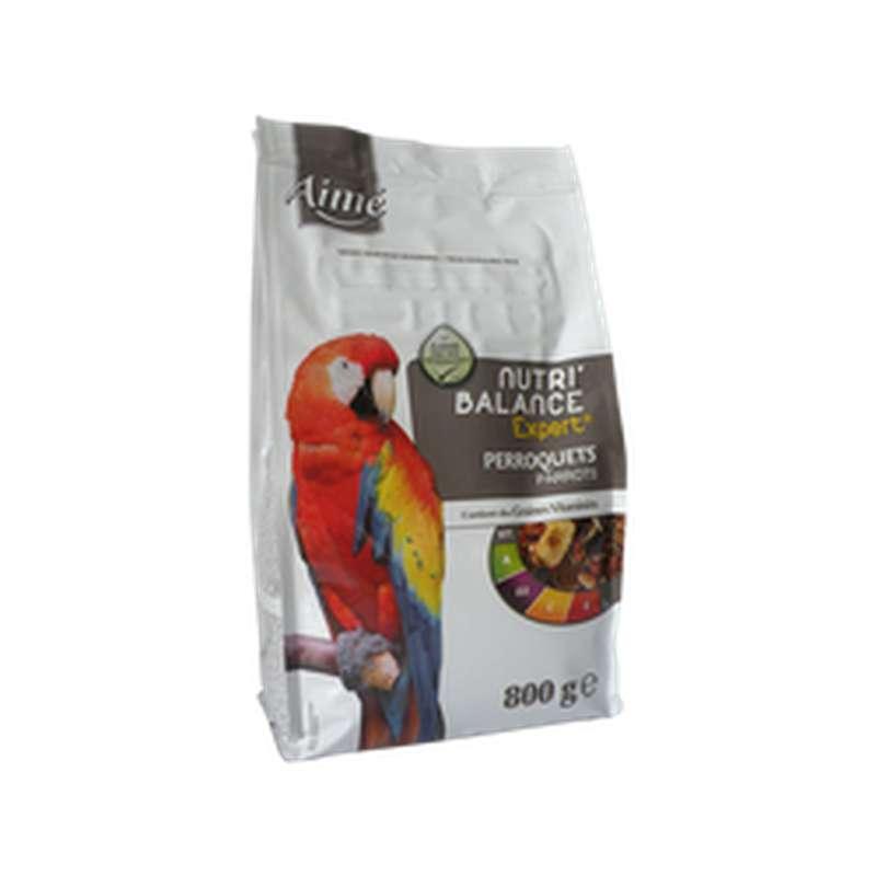 Graines Nutri'balance Expert pour perroquets, Aimé (800 g)