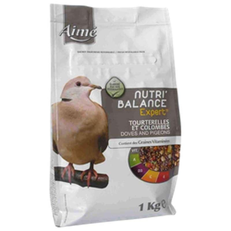 Graines Nutri'balance Expert pour tourterelles et colombes, Aimé (1 kg)