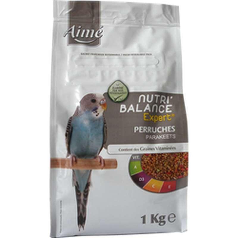 Graines Nutri'balance Expert pour perruches, Aimé (1 kg)