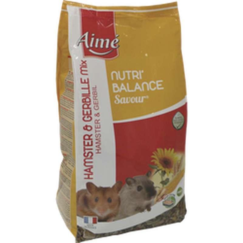 Mélange de céréales pour hamsters et gerbilles Nutri'Balance, Aimé (900 g)