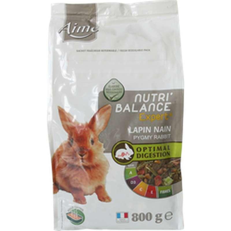 Mélange de granulés pour lapin nain Nutri'Balance, Aimé (800 g)