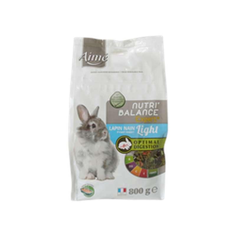 Mélange de granules light pour lapin nain Nutri'Balance, Aimé (800 g)