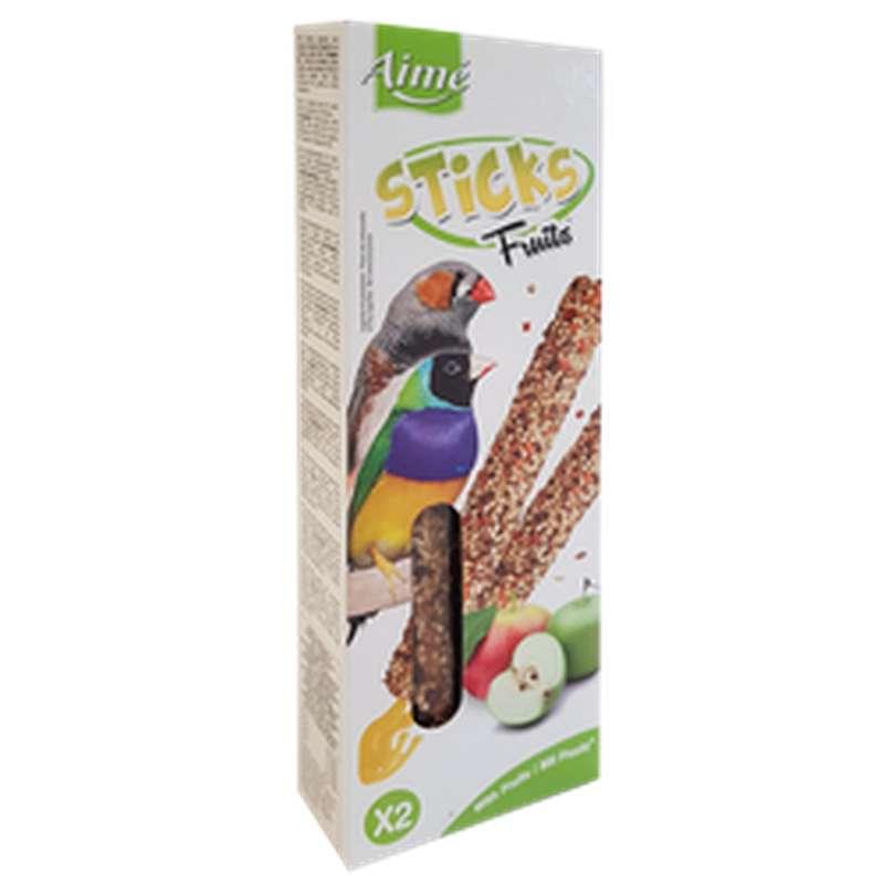 Baguettes de céréales aux fruits pour oiseaux exotiques, Aimé (85 g)