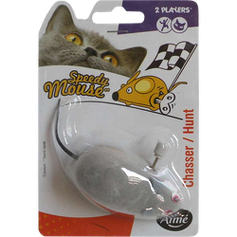 Jouet souris mécanique pour chat, Aimé (x 1)