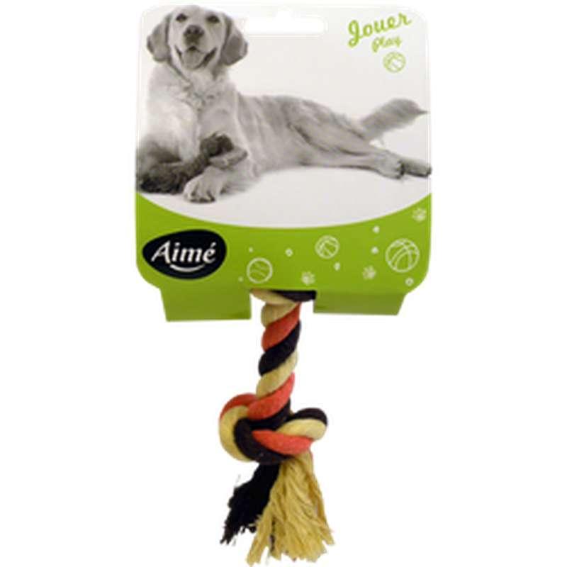 Jouet corde en coton pour chien, Aimé (15 cm, x 1)