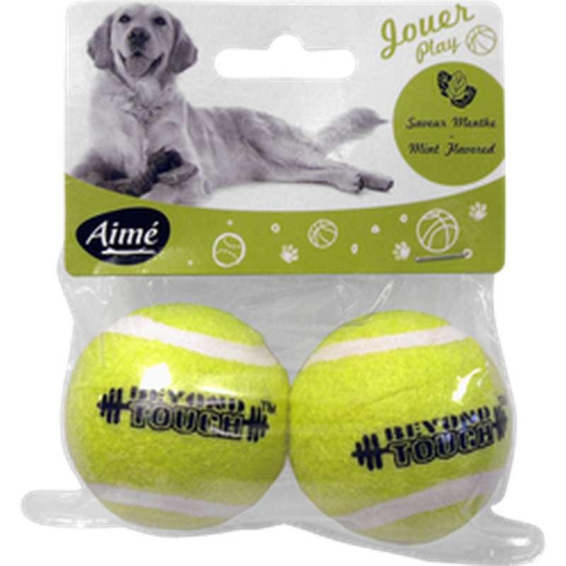 Jouet balle de tennis pour chien, Aimé (x 2)