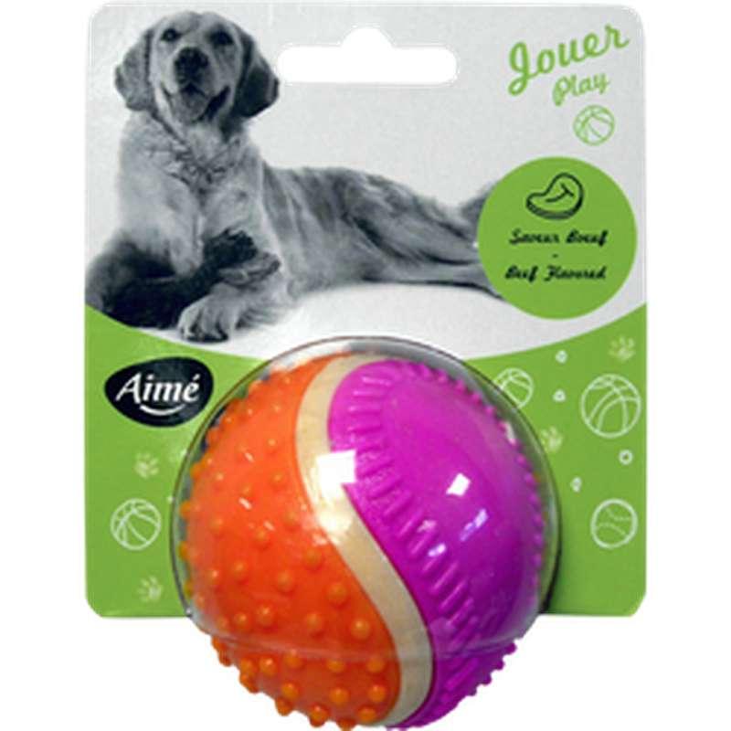 Balle 5 sens en plastique pour chien, Aimé (x 1)