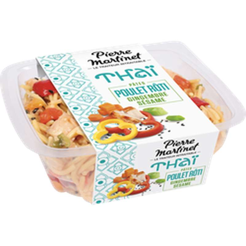 Salade Thaï poulet rôti gingembre sésame, Pierre Martinet (250 g)