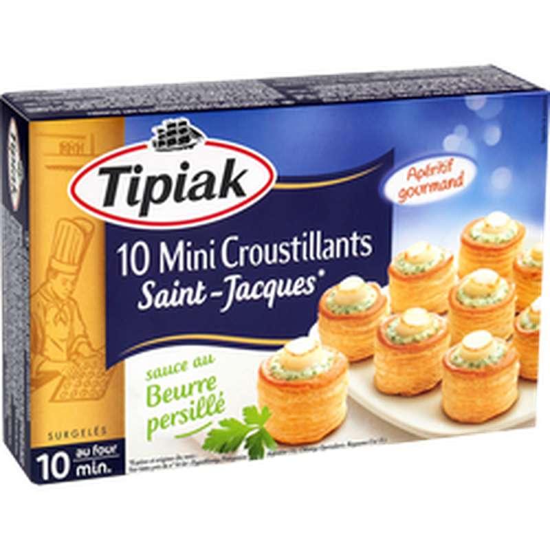 Mini-Croustillants de Saint-Jacques sauce au beurre, Tipiak (x 10, 120 g)
