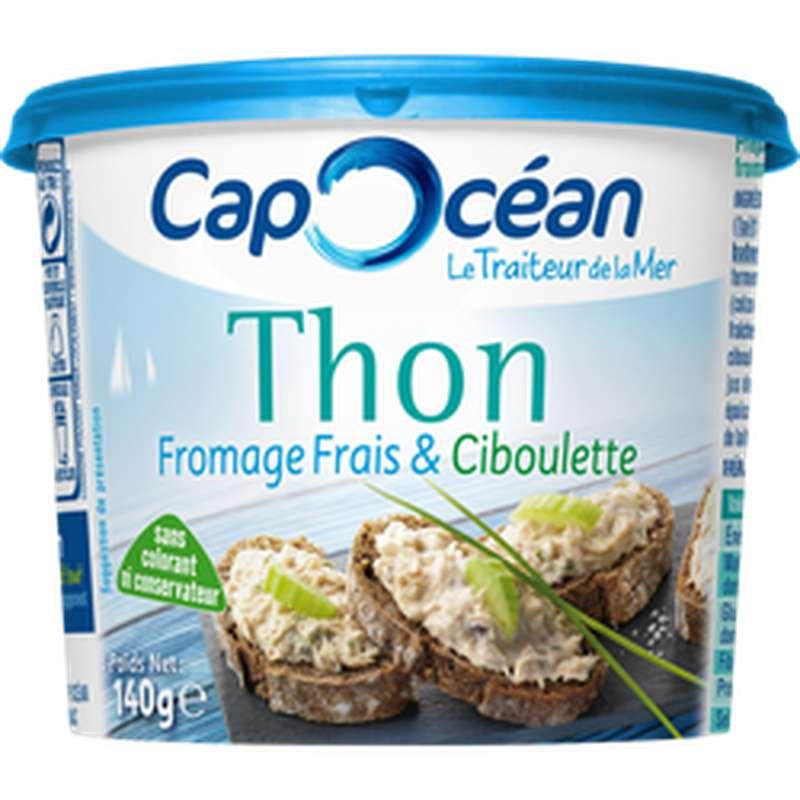 Tartinable de thon, fromage frais et ciboulette, Cap Océan (140 g)
