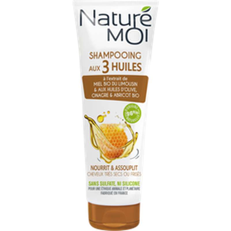 Shampoing aux 3 huiles, Nature Moi (250 ml)