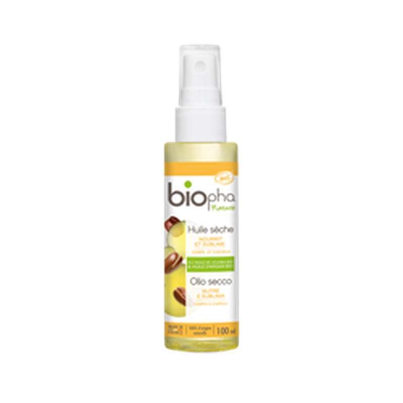 Huile Sèche corps et cheveux jojoba et argan, Biopha Nature (100 ml)
