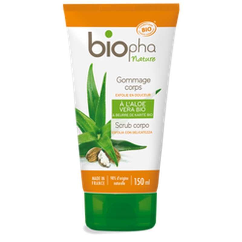 Gommage pour le corps à l'aloe vera et au beurre de karité BIO, Biopha (150 ml)