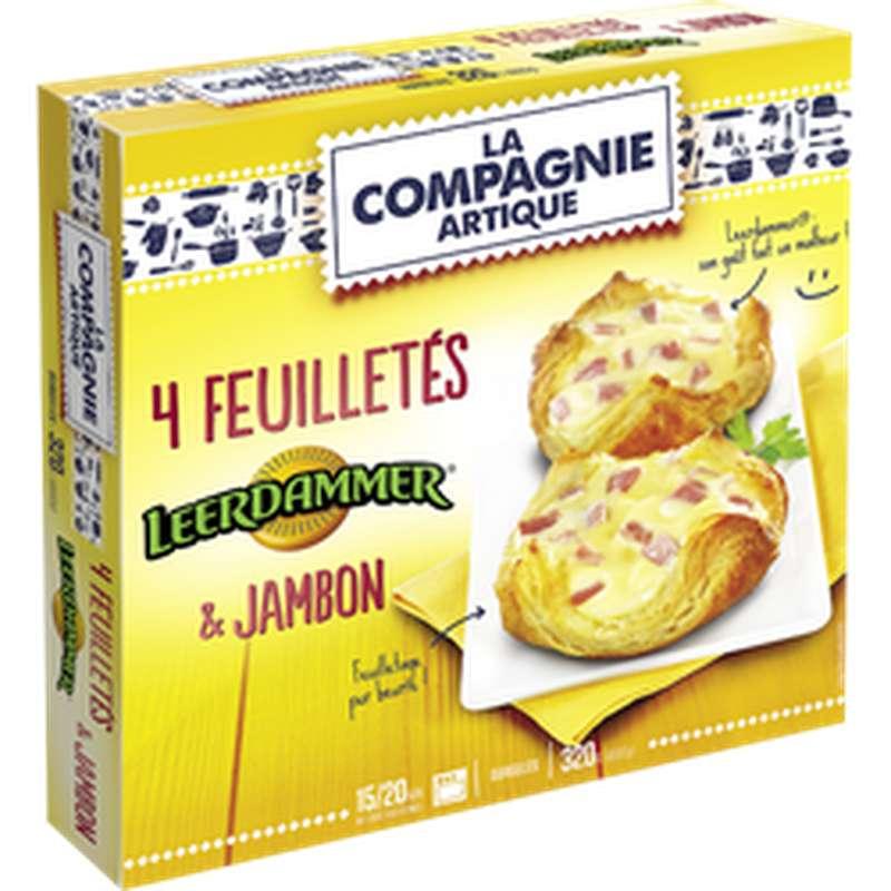 Feuilletés au Leerdamer et jambon, La Compagnie Artique (4 x 80 g)