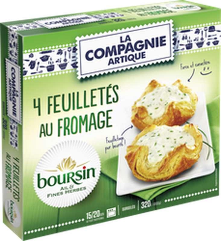 Feuilletés au fromage Boursin ail et fines herbes, La Compagnie Artique (x 4)