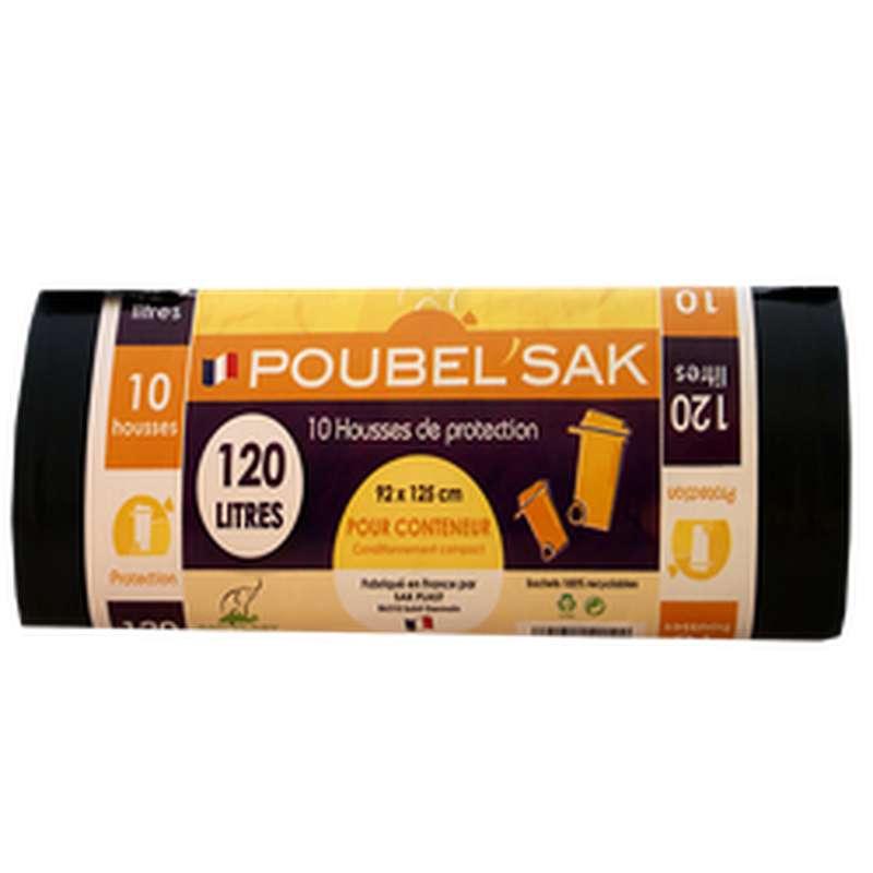 Sac Poubelle Noir, Poubelle Sak (x10, 120L)
