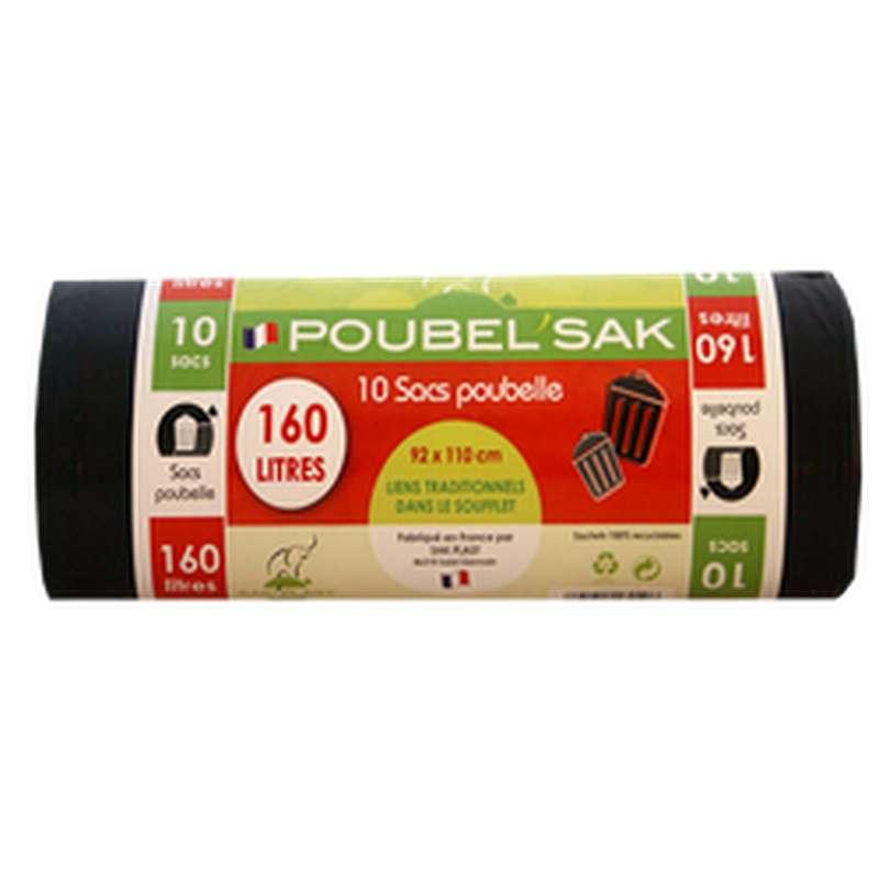 Sac Poubelle Noir, Poubel'Sak (x10, 160L)