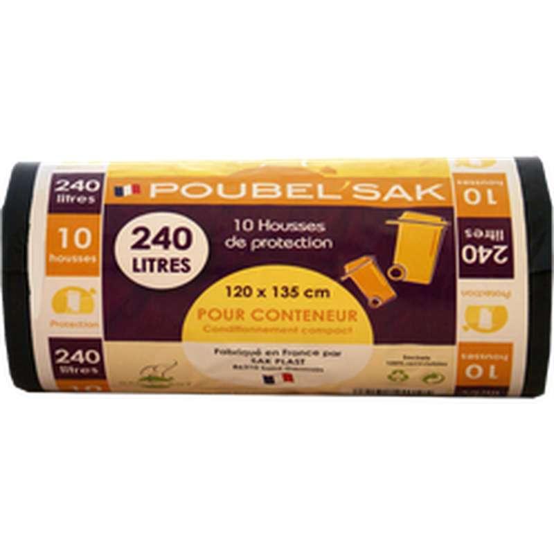 Sac Poubelle Noir, Poubel'Sak (x10, 240L)