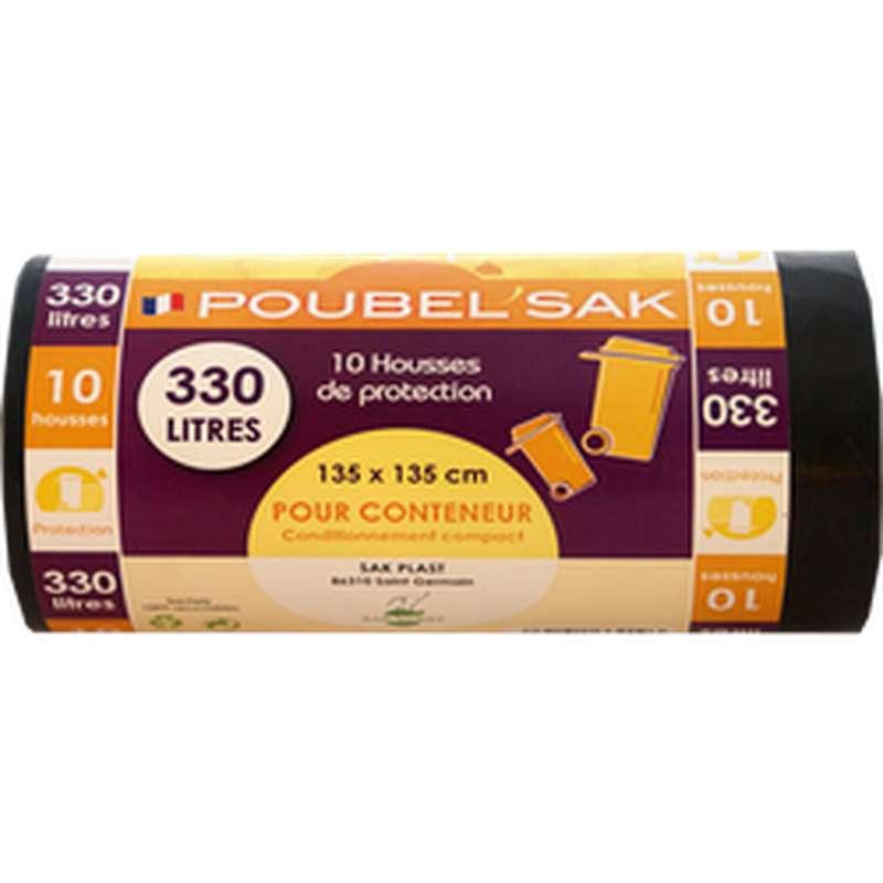 Sac Poubelle Noir, Poubel'Sak (x10, 330 L)