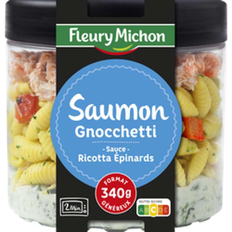 Saumon, pâtes gnocchetti, épinard et ricotta, Fleury Michon (340 g)