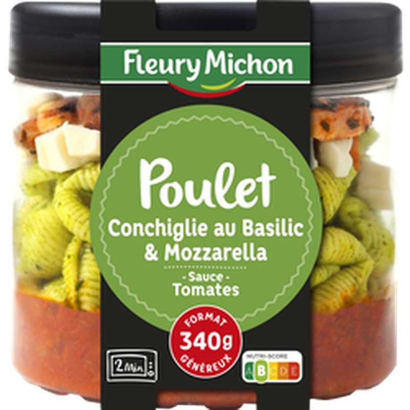 Conchiglie au pesto, poulet, tomate et mozzarella, Fleury Michon (340 g)