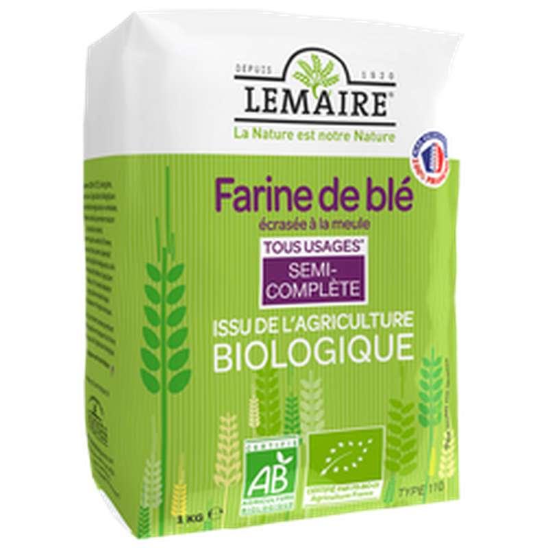 Farine semi complète T110 BIO, Lemaire (1 kg)