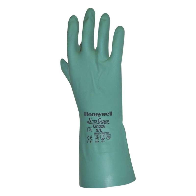 Gants nitrile verts résistance chimique/mécanique T9, HoneyWell (x 1)