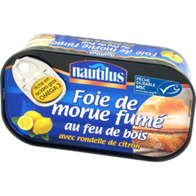 Foie de morue fumé au citron, Nautilus (120 g)