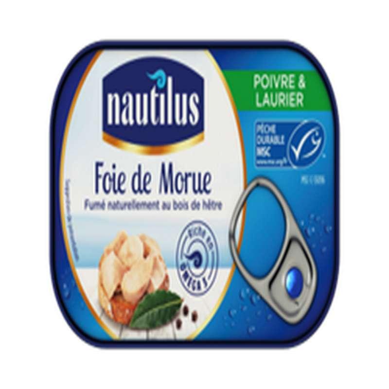 Foie de morue au poivre et au laurier, Nautilus (115 g)
