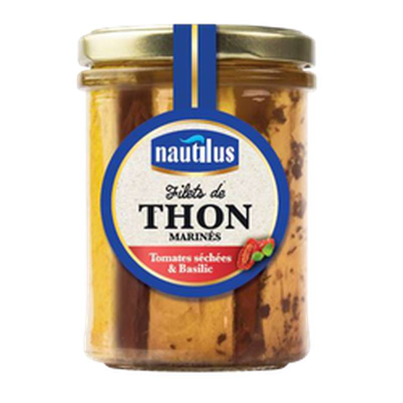 Filets de thon marinés tomate et basilic, Nautilus (135 g)