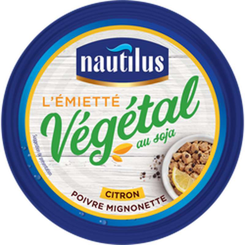 Émietté végétal au soja au citron poivré, Nautilus (142 g)