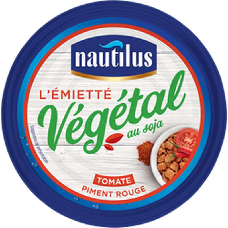 Émietté végétale au soja à la tomate pimentée, Nautilus (142 g)