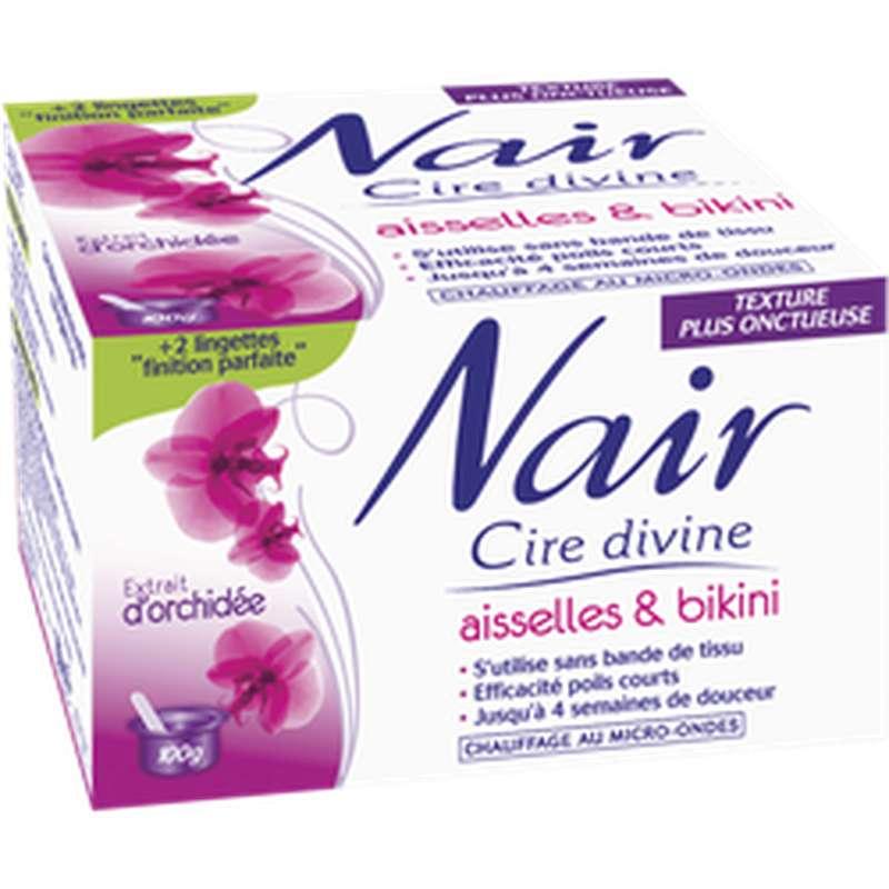 Cire divine maillot et aisselles aux extraits d'orchidée, Nair (100 g)