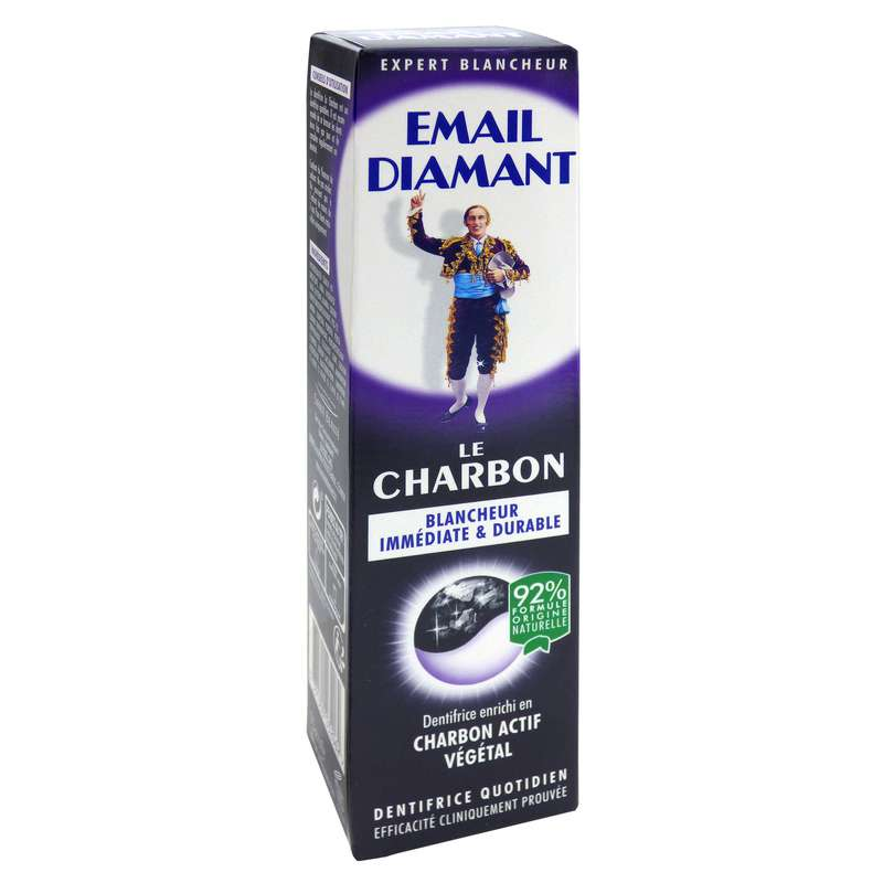 Dentifrice blancheur le charbon, Email Diamant (75 ml)
