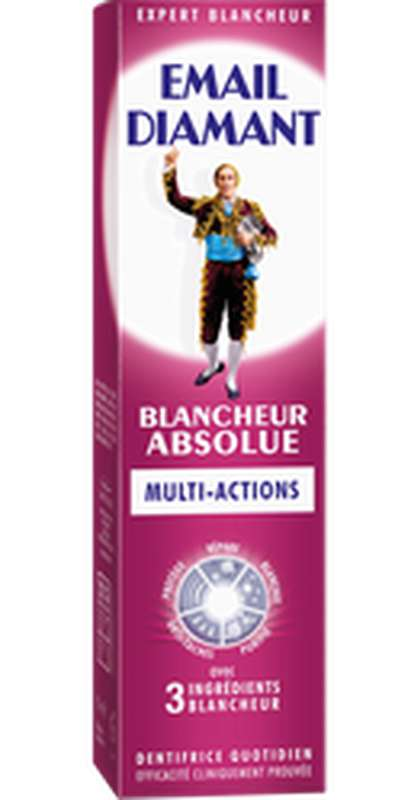 Dentifrice blancheur absolue multi-action, Email Diamant (75 ml)