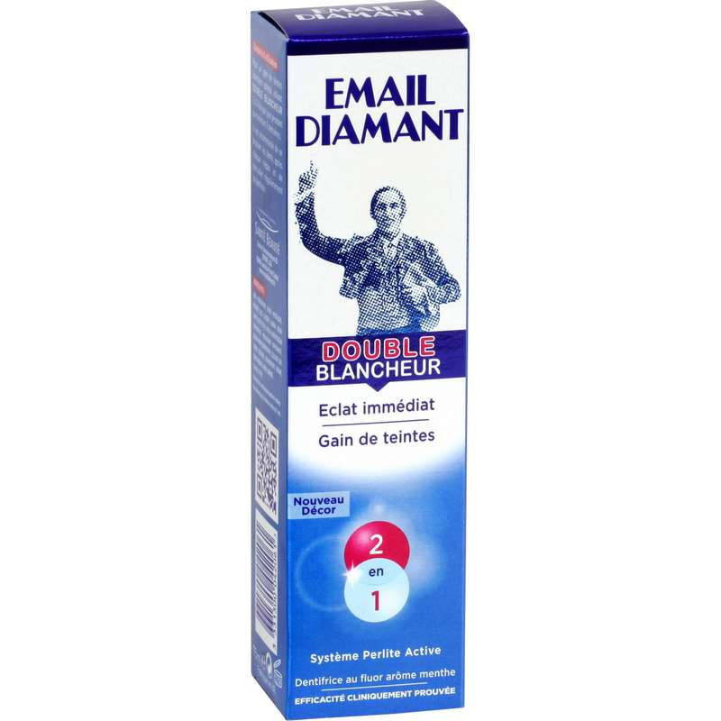 Dentifrice double blancheur, Email Diamant (75 ml)