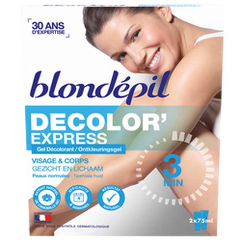 Gel décolorant visage et corps, Blondepil (2 x 75 ml)