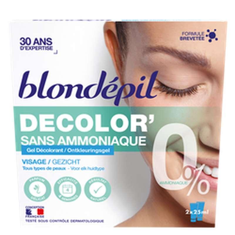 Gel décolor' visage sans amoniaque, Blondepil (2 x 25 ml)