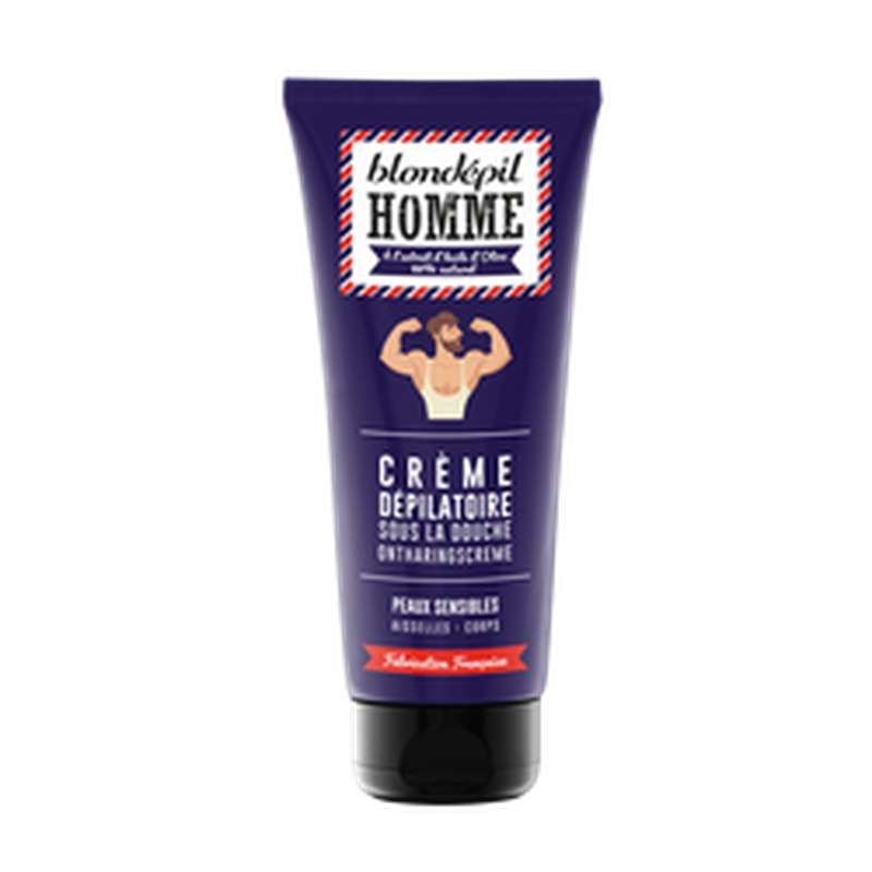 Crème dépilatoire pour homme, Blondepil (200 ml)