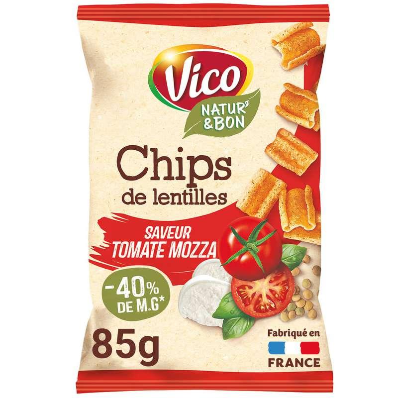 Chips de lentilles tomate mozzarella, Vico (85 g)