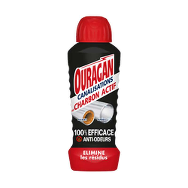 Gel Canalisations charbon actif, Ouragan (700 ml)