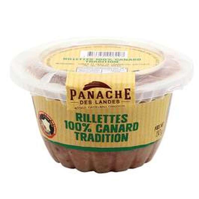Rillettes 100% canard tradition, Panache des Landes (130 g)
