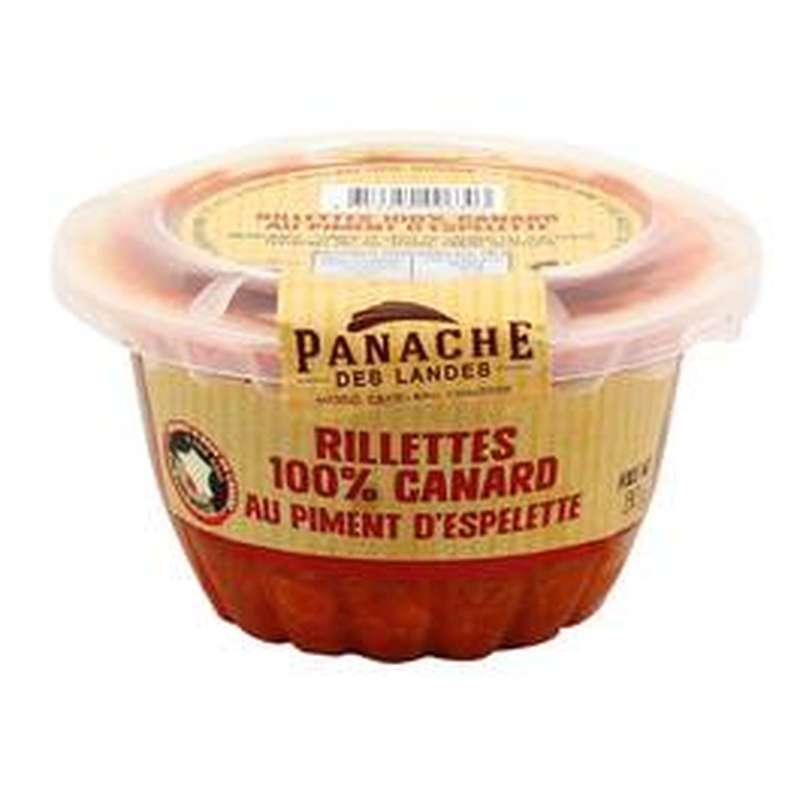 Rillettes 100% canard au piment d'Espelette, Panache des Landes (130 g)