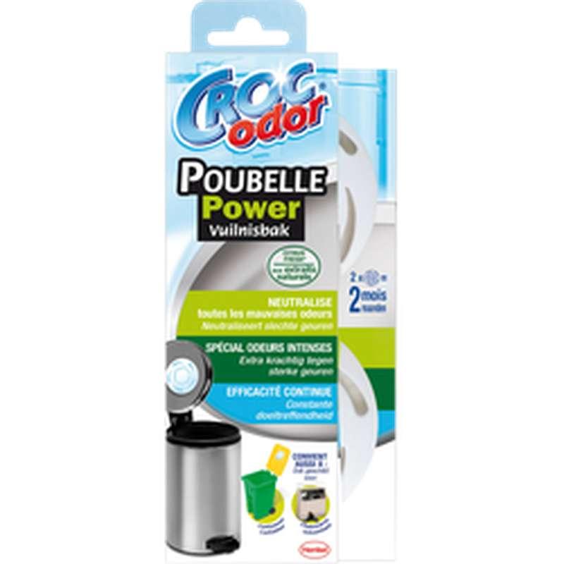 Désodorisant pour poubelle Power, Croc Odor (x2)