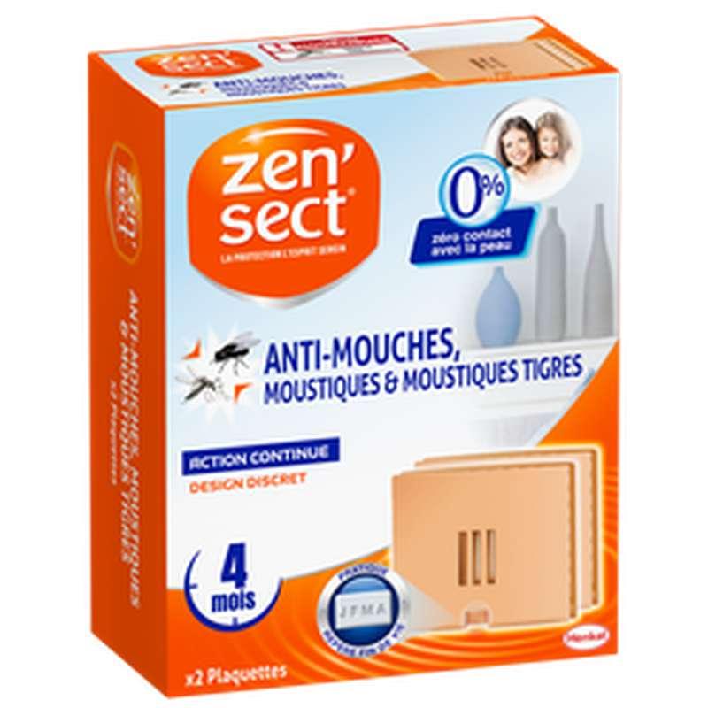Plaquettes anti-mouches et moustiques 0% insecticide, Zensect (x 2)