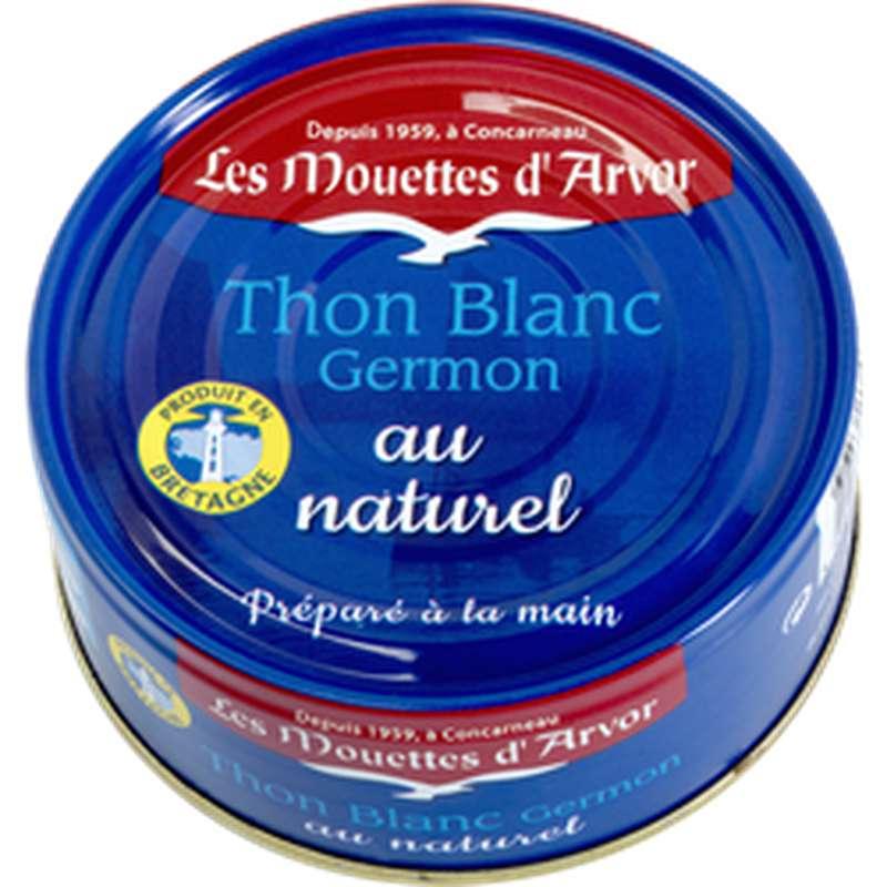 Thon blanc Germon au naturel, Les Mouettes d'Arvor (160 g)